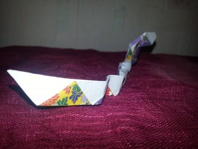 несложная оригами змея