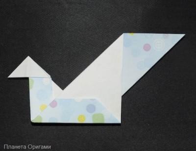 Австрийский лебедь оригами