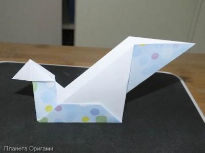 Лебедь из бумаги