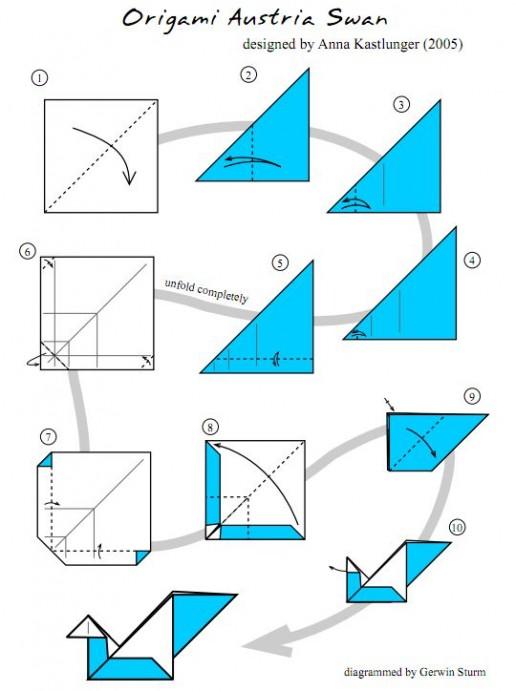 Как сделать лебеди из бумаги своими руками