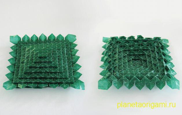 Лист клевера оригами