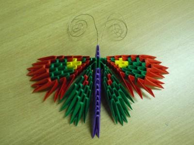 Бабочка оригами из модулей