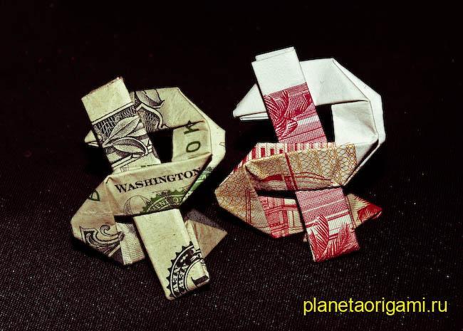 Оригами для подарка денег 437