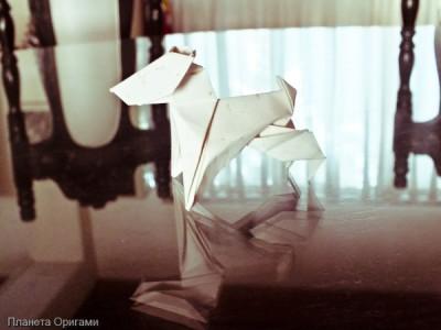 Оригами шотландский терьер