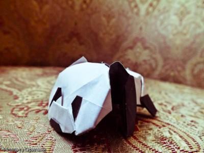 Детеныш панды оригами