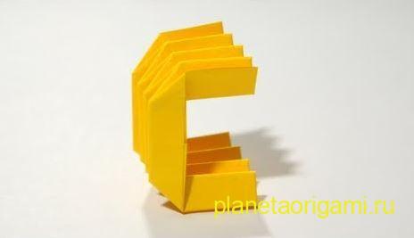 Схема оригами буква а