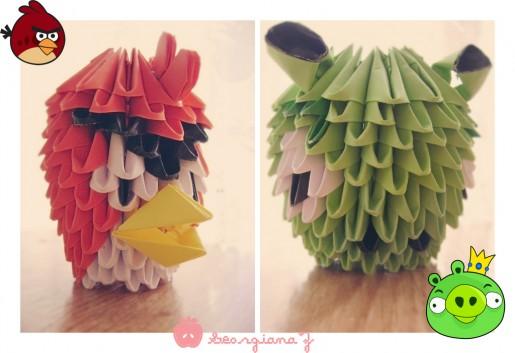 Вымышленные.  Модульное оригами схемы.  Популярная игра Angry Birds в последнее время просто заполонила сердца многих...