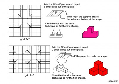 паттерн сборки элементов куба