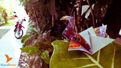лебедь оригами по простой схеме