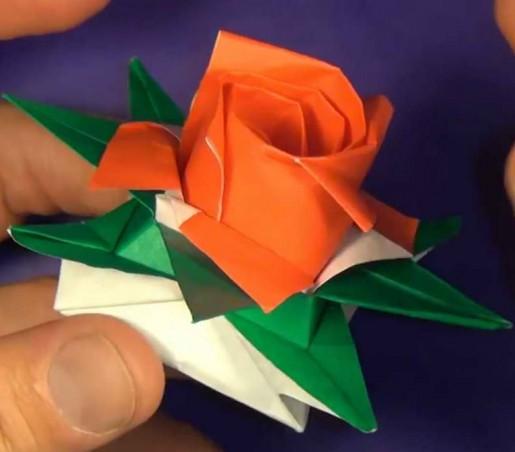 коробка-звезда и роза кавасаки