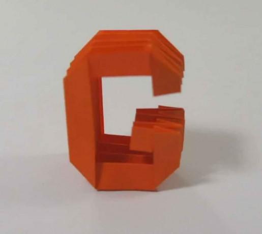 Origami Letter `G