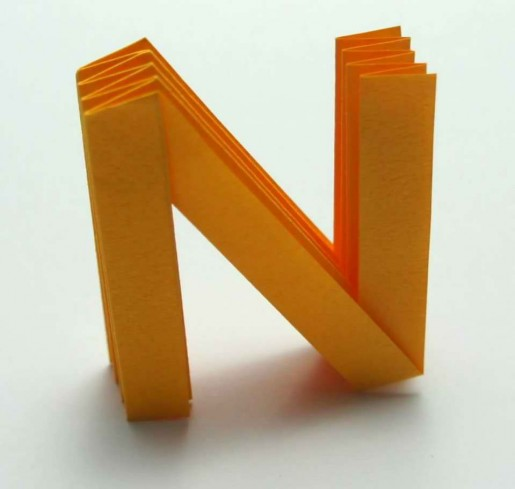 Origami Letter `N`