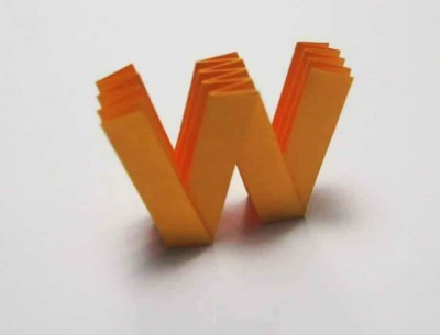 Origami Letter 'w'