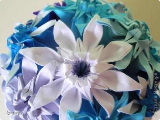 кусудама из цветочных модулей