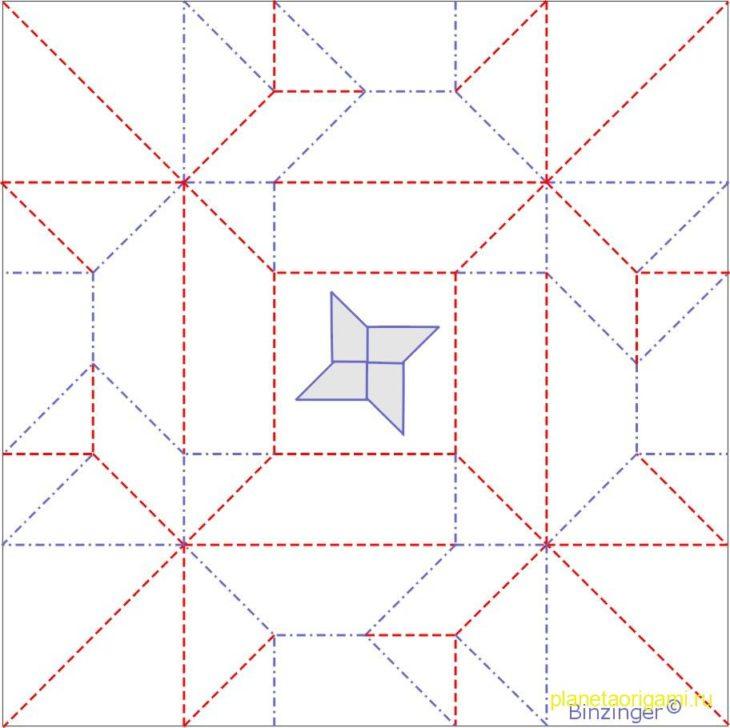 Как сделать своими руками?  Коробочка-сюрикен из бумаги по схеме Evi Binzinger Планета Оригами.