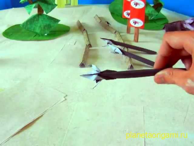 Оригами из бумаги пистолет схемы - Оригами из бумаги схемы.