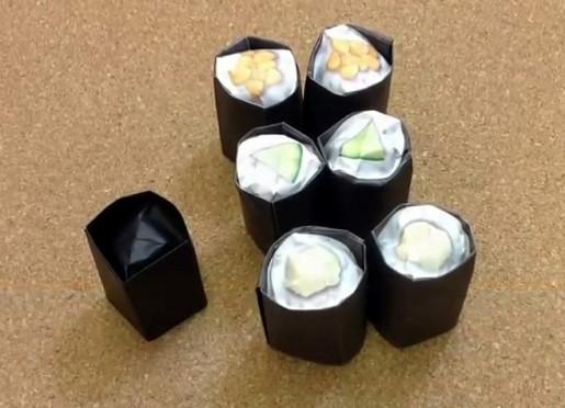 бумажные суши роллы