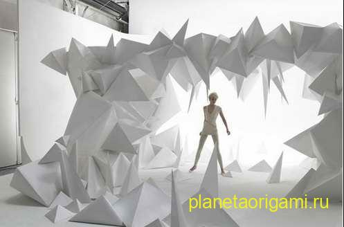 скульптуры из бумаги для фотосессии