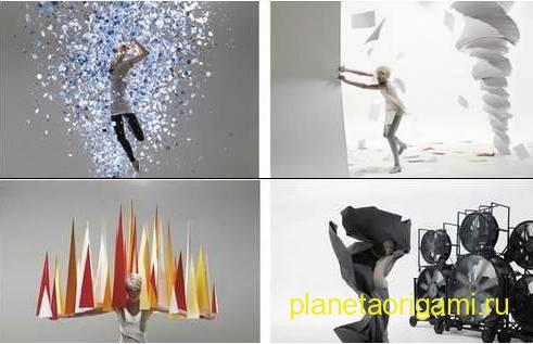 фантазийная фотосессия с моделями оригами
