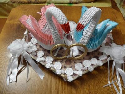 подарок оригами на свадьбу