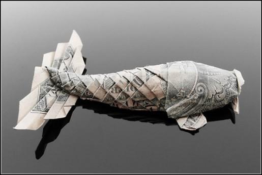 рыбка из доллара