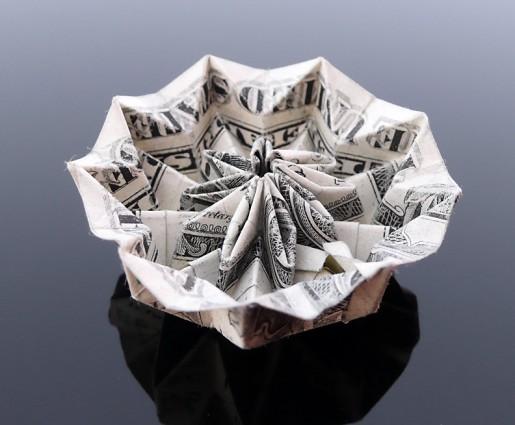 цветок из доллара