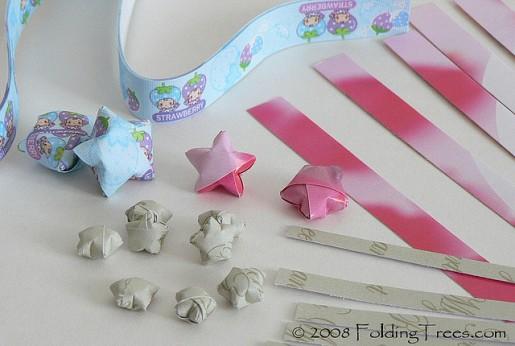 ленточки для бумажных звезд