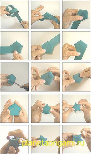 звездочка оригами урок
