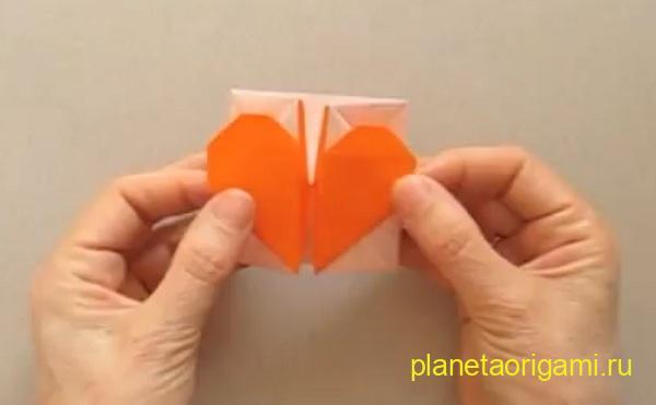 Видео как сделать коробочку сердечко из бумаги 275