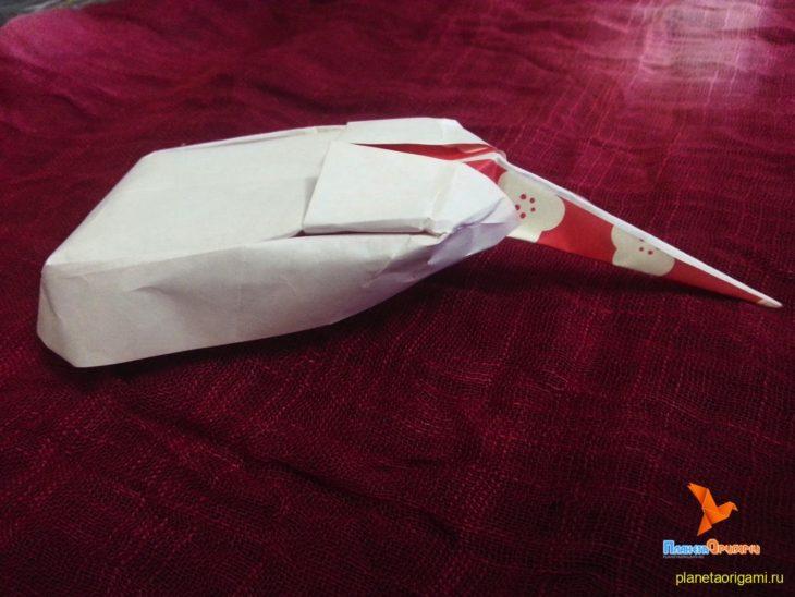 компьютерная мышь из бумаги