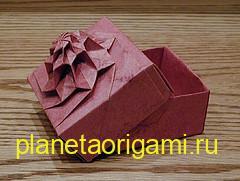Башня цветок оригами