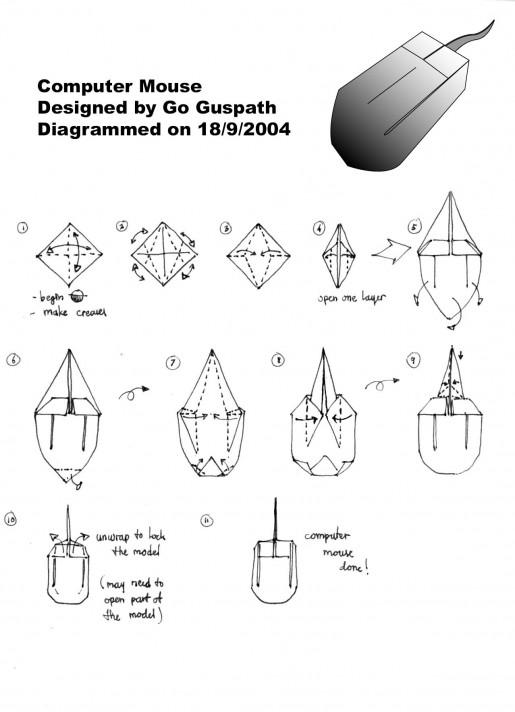 схема сборки компьютерной мыши