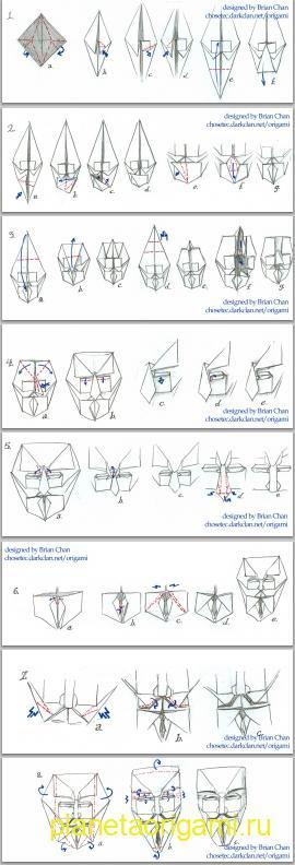 схема сборки маски