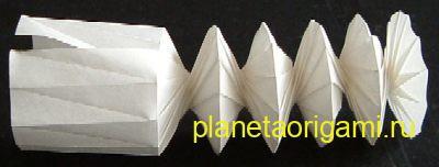схема пружинки из бумаги