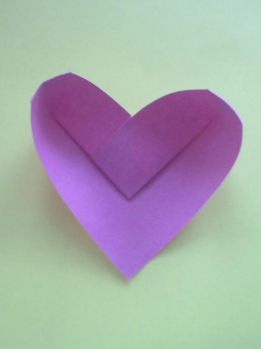 объемное сердечко оригами
