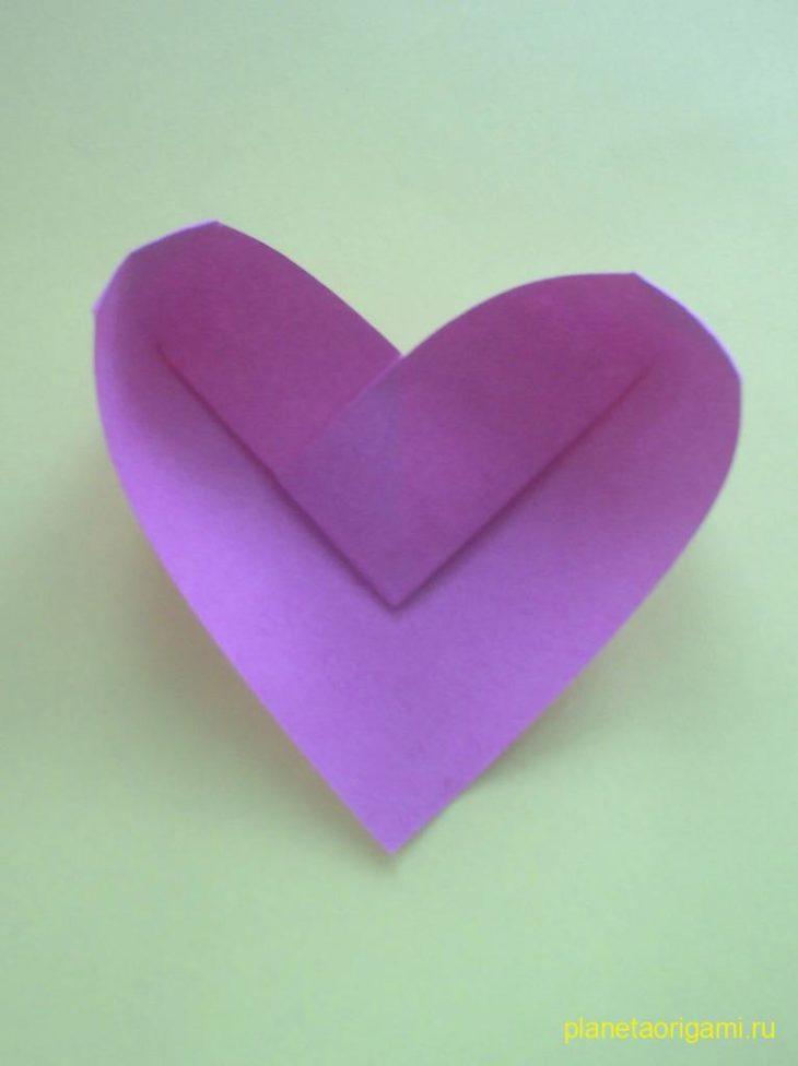 Оригами из бумаги объемное сердце из бумаги своими руками 27