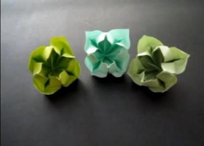 бумажные цветочки оригами