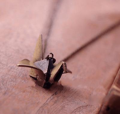 подвеска «Журавлик оригами»