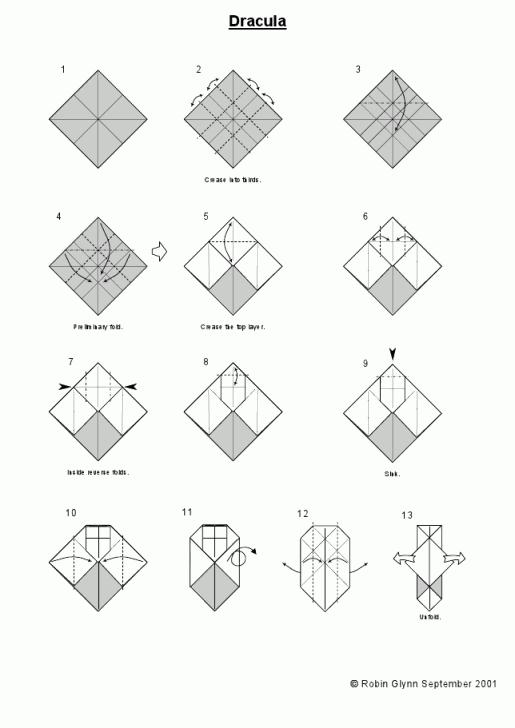 схема оригами Дракула