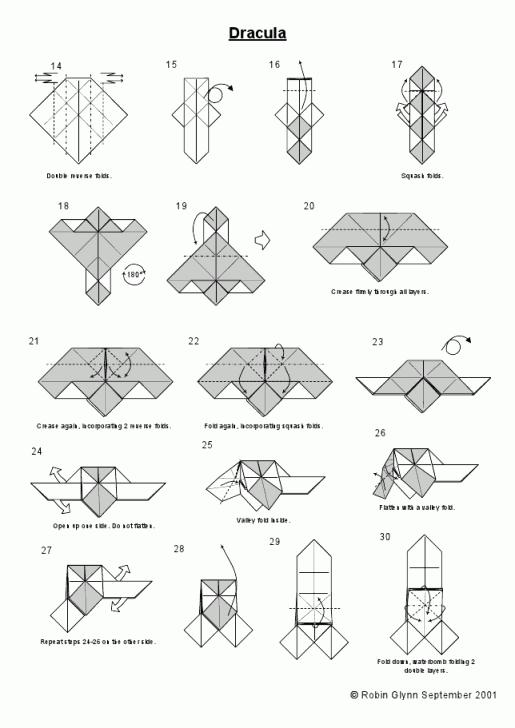 оригами вампир схема