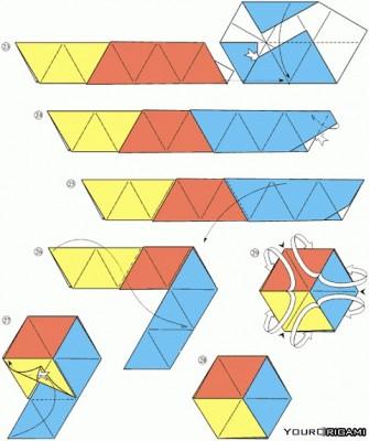 оригами флексагоны