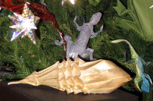 Оригами игрушки на новогодней елке