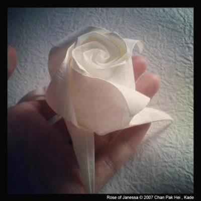 красивая оригами роза