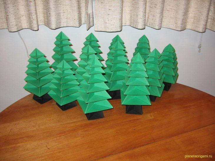 274Как сделать дерево из бумаги оригами своими руками