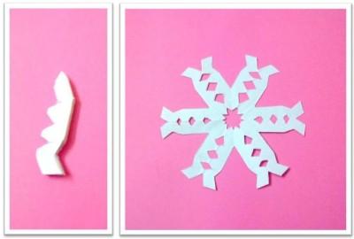 самодельные бумажные снежинки