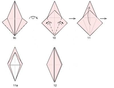 схема сборки базовой формы журавль