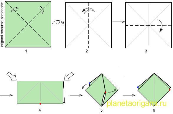 схема двойного квадрата