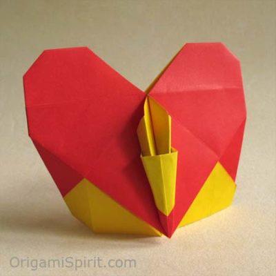 оригами подарочное сердечко