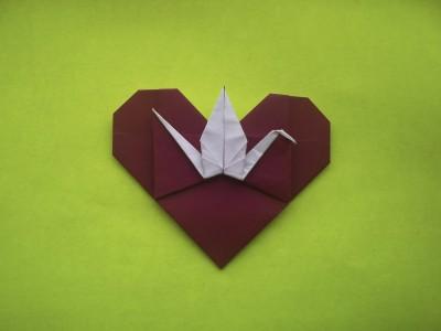 бумажное сердечко