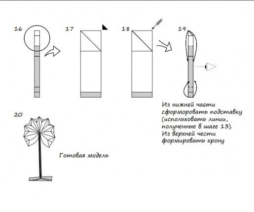 бумажное дерево схема